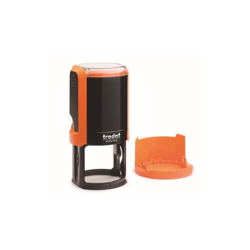 Изготовление печати на автоматической оснастке цвет оранжевый